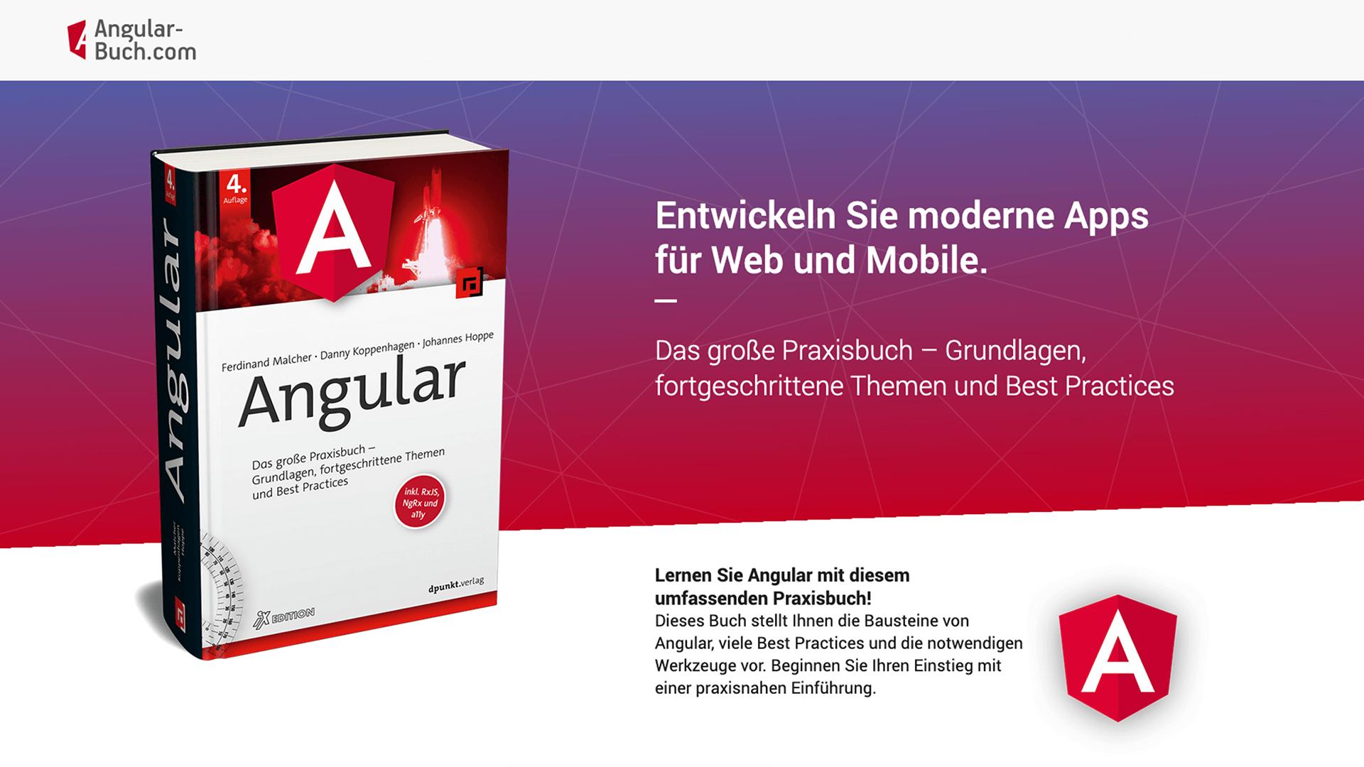 Angular-Buch → Entwickeln Sie moderne Apps für Web und Mobile